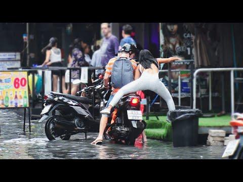 Unique FLOOD in Pattaya. Thailand, September, 2021
