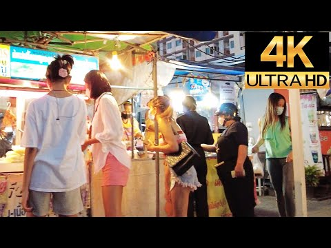 Pattaya 4K Stroll Friday Night Stroll Soi Bua Khao, Bua Khao Market, TREE TOWN, Soi8, 17th Sep.