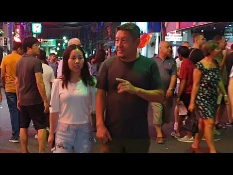 PATTAYA WALKING STREET SCENES NIGHT TIME