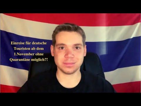 Thailand – Quarantänefreie Einreise für deutsche Touristen ab November möglich?! uvm. / 11.10.2021