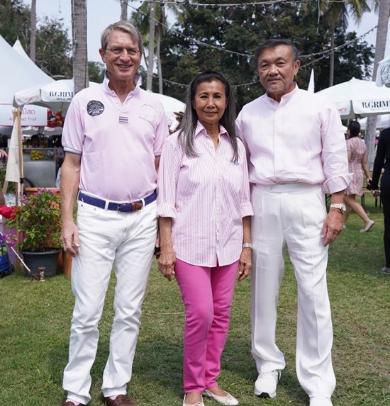 Dr. Harald Link, president of B.Grimm and the Thailand Equestrian Federation, Nuntinee Tanner, vice president of the Thailand Equestrian Federation, and Chalaluck Bunnag.
