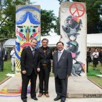Berlin Wall remnants placed at German Embassy, Bangkok