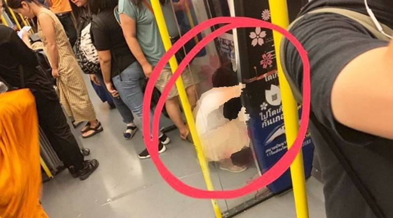 Tourist Urinates on Airport Link SkyTrain