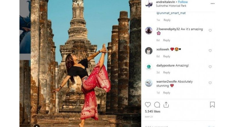 Concern over yoga teacher's poses at sacred sites