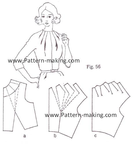 How to make multiple dart tucks at the neckline