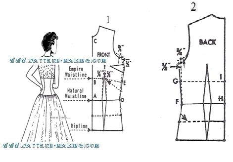 Drafting Dress with Midriff