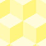 黄色い立方体に見えるパターン