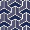藍色を使用した毘沙門亀甲のシームレスパターン