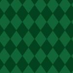 2色の緑色の菱形を組み合わせたパターン素材