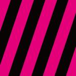 黒とピンクのパンチのある斜めストライプパターン素材