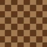 陰影があり立体的に見えるブラウンベースのブロックパターン