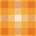 オレンジベースの配色のガンクラブチェックパターン