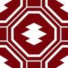 八角形に囲まれた松皮菱の和柄パターン