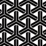 白黒の組亀甲柄パターン