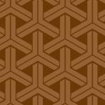 茶色のラインが組み合ったように見える組亀甲柄パターン