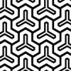 六角形を3つ並べた白黒の毘沙門亀甲