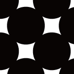 円を並べたシンプルなモノクロパターン