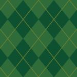 2色のグリーンを使ったアーガイルチェック柄パターン