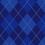 紺色ベースのアーガイルチェック柄パターン