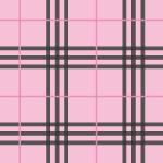 薄いピンクベースのタータンチェック柄パターン