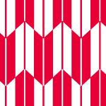 赤と白の可愛らしい矢絣柄パターン
