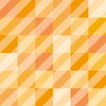 オレンジのブロックに斜線が入ったパターン