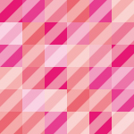 複数のピンク色の四角と斜線のパターン