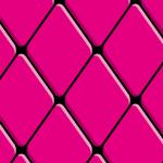 丸みを帯びたピンク色の菱形のパターン