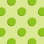立体的に見える緑のドットパターン