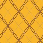 菱形に並べられたオレンジベースのパターン