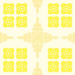 薄い黄色のハワイアンキルト柄パターン