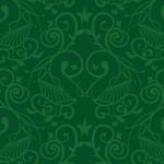 深い緑色の西欧壁紙のようなパターン