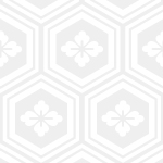 薄っすらと浮かび上がる亀甲柄パターン