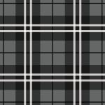 黒を多様したクールなタータンチェック柄パターン