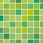 グリーンを主体としたモザイクタイル柄パターン
