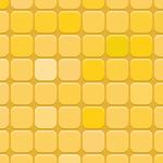 オレンジベースの丸みを帯びたタイル風パターン