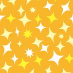 オレンジと黄色ベースのキラキラパターン