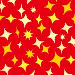 赤と黄色のキラキラ光るパターン