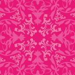 ピンク配色の可愛らしい西洋風パターン