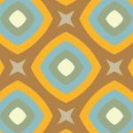 レトロな風合いの丸みを帯びた四角が重なるパターン