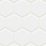 真っ白な六角形のタイルが並ぶパターン