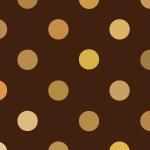 茶色のドット柄パターン