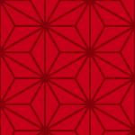 赤い麻の葉柄和風パターン