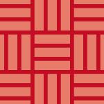 朱色の網代文様和柄パターン