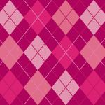 エレガントな配色のアーガイルチェック柄パターン