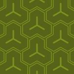 渋みのある日本的な緑の毘沙門亀甲柄パターン