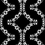 白黒の西洋風パターン
