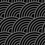 斜めに傾いた黒基調の青海波柄パターン