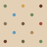 ベージュ基調でクラシカルな色合いのドットパターン
