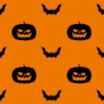 かぼちゃとコウモリのハロウィンイラスト背景パターン